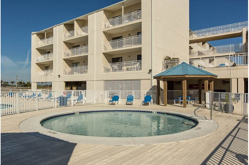 Soak in the hot tub at Sugar Beach in Orange Beach AL
