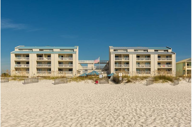 Sugar Beach in Orange Beach AL is directly beach front