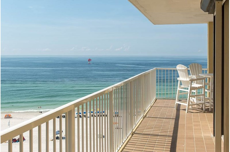 Stunning view of the Gulf from Summer House on Romar Beach in Orange Beach AL
