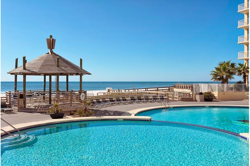 Amazing pool area right on the water at Summer Place at Romar  Beach in Orange Beach AL
