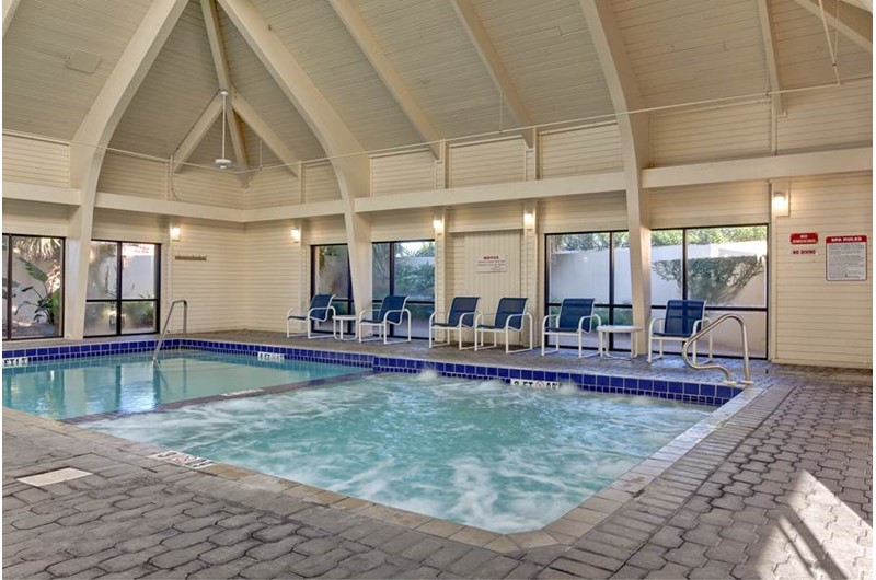 Huge indoor pool at Summer Place at Romar  Beach in Orange Beach AL