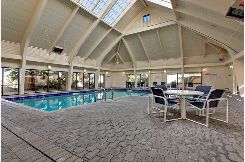 A rainy day is perfect for a swim in the indoor pool at Summer Place at Romar  Beach in Orange Beach AL