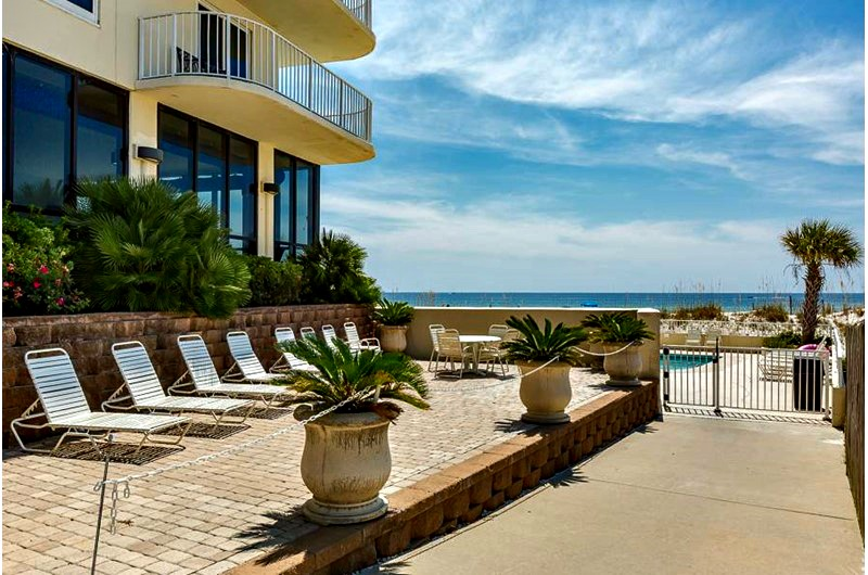 Beachfront pool at Summerchase Condominiums in Orange Beach AL