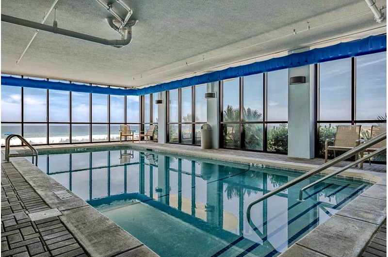 Indoor pool at Summerchase Condominiums in Orange Beach AL