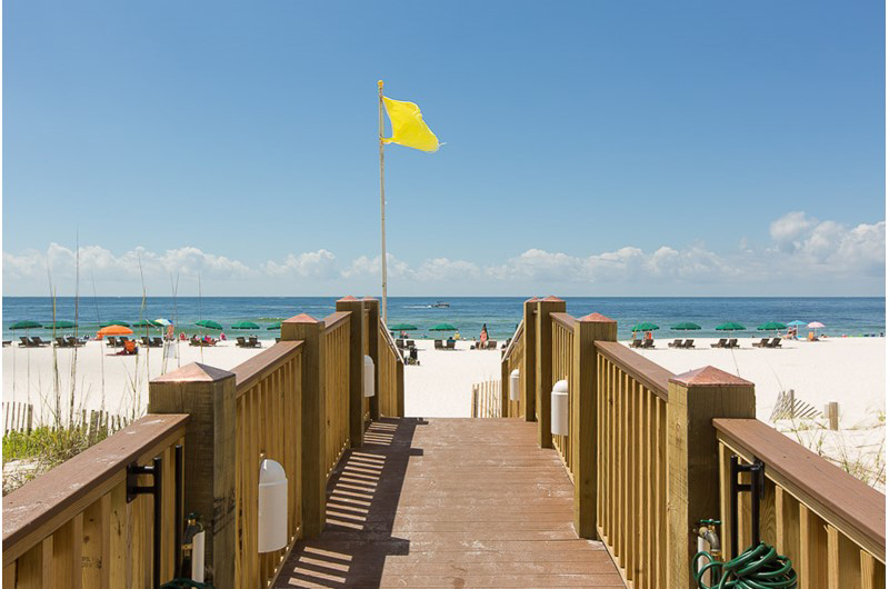 Walk directly onto the beach from Summerchase Condominiums in Orange Beach AL