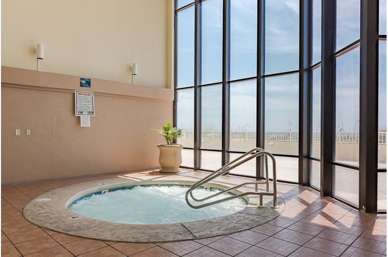 You will love relaxing in the hot tub at Summerchase Condominiums in Orange Beach AL