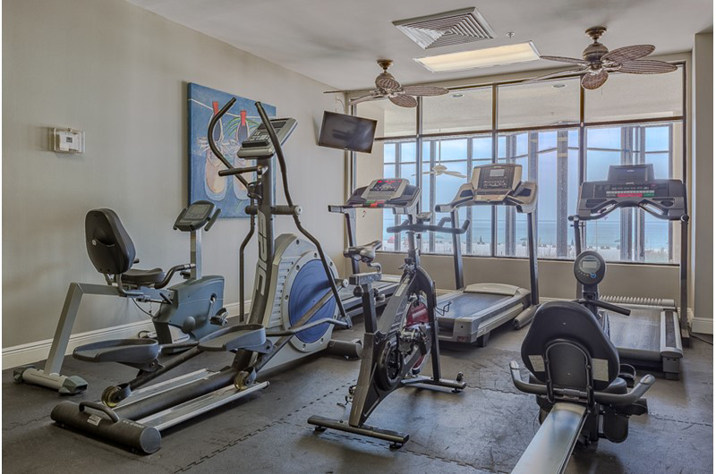 Nice gym to burn those extra calories at Summerchase Condominiums in Orange Beach AL