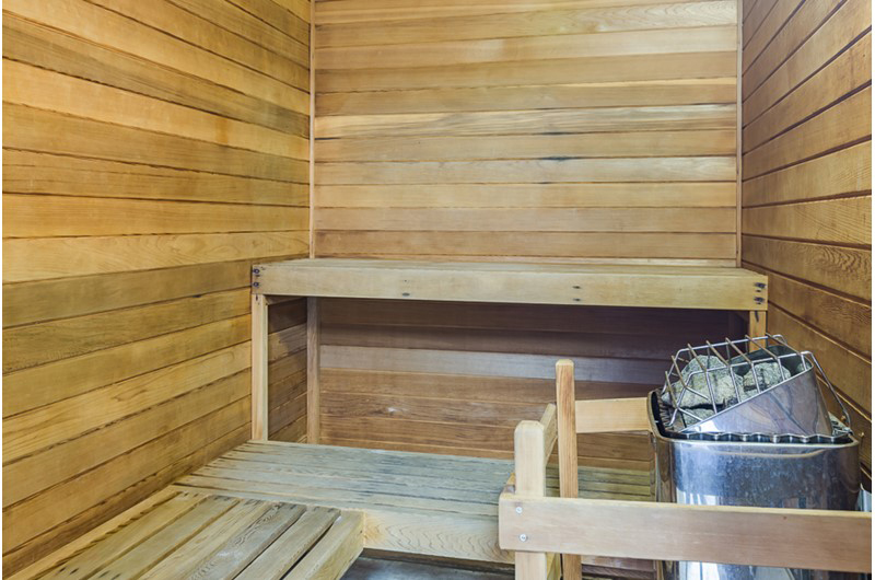 Sauna is a nice perk at Summerchase Condominiums in Orange Beach AL