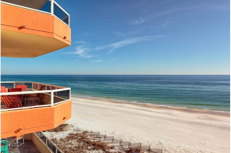 Enjoy a view of the Gulf from The Enclave in Orange Beach AL