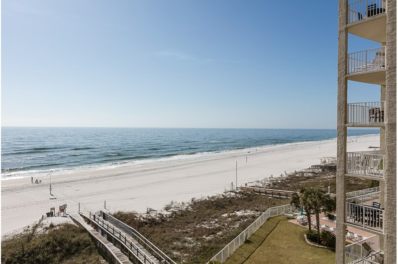 See for miles from your balcony at The Enclave in Orange Beach AL