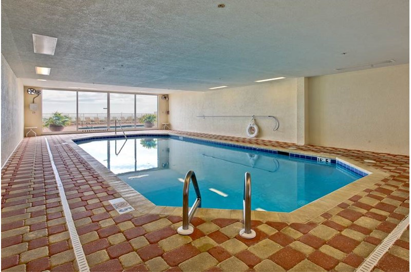 Cold days are meant for this great indoor pool at The Enclave in Orange Beach AL