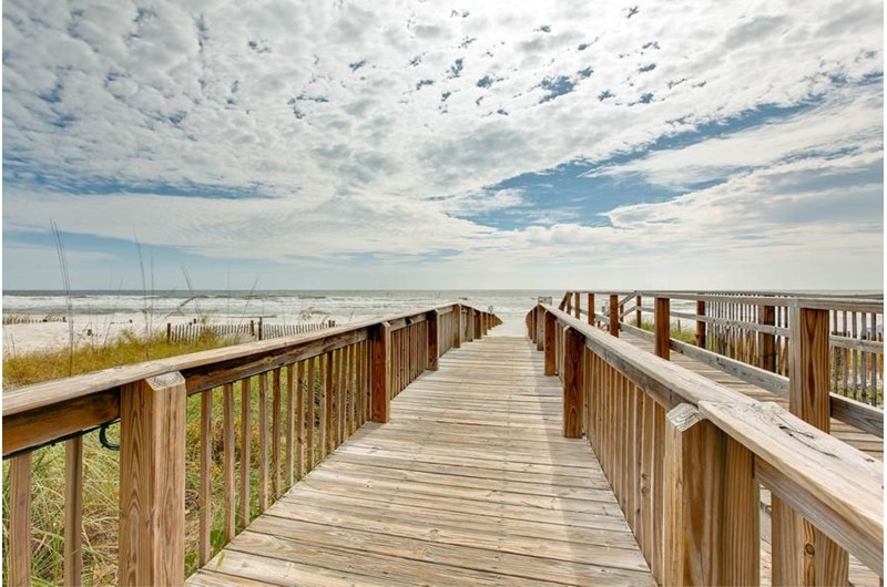Easy access to the beach and Gulf from The Enclave in Orange Beach AL