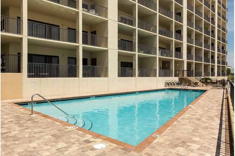 The pool is just steps away at The Palms Orange Beach.