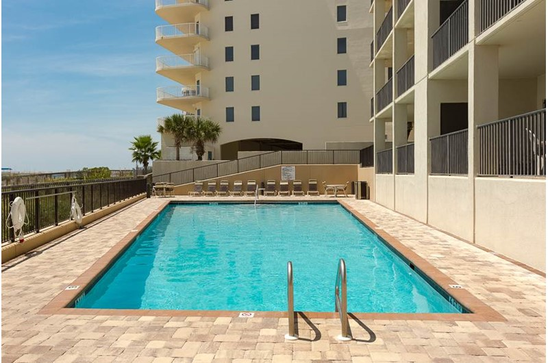 The Palms Orange Beach has a large Gulf-front pool.