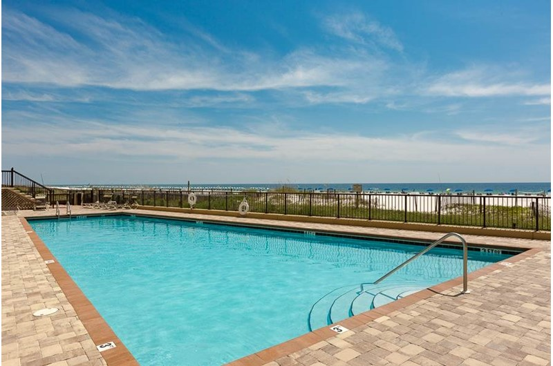 At The Palms Orange Beach you can enjoy views of the Gulf view while taking a refreshing swim in the pool.