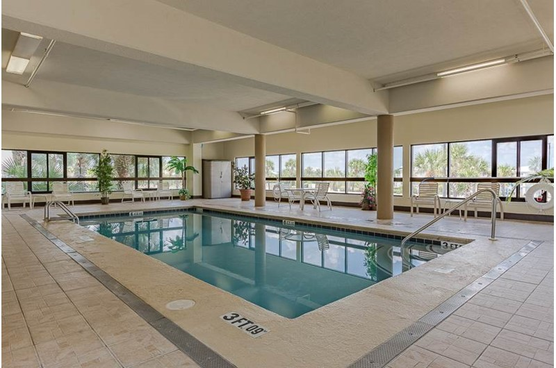 Swim indoors on chilly and rainy days at The Palms Orange Beach.