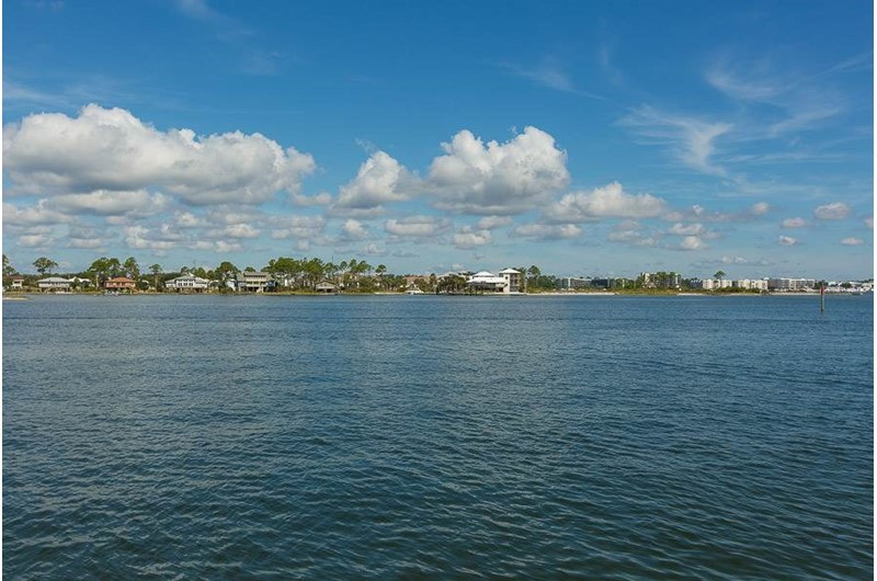 Expansive water at The Pass in Orange Beach Alabama