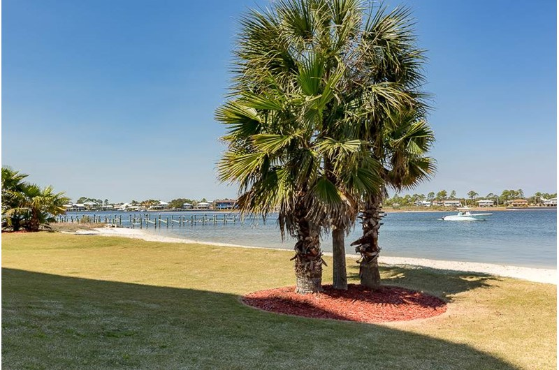 Lovely grounds at The Pass in Orange Beach Alabama