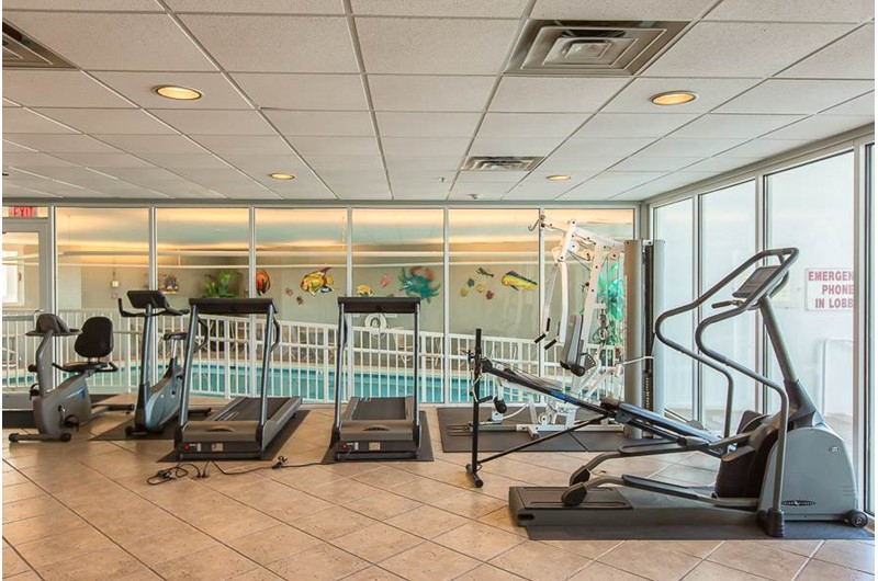 Enjoy the workout room at The Pass in Orange Beach Alabama