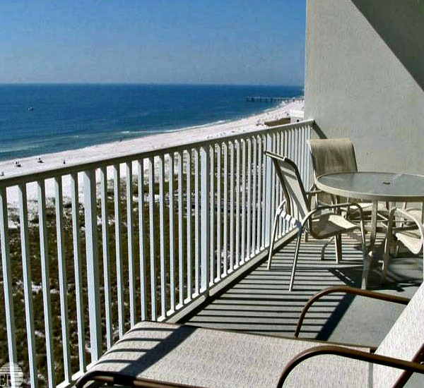Balcony view at Tidewater Orange Beach Alabama