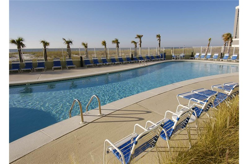 Large pool area at Tidewater in Orange Beach Alabama