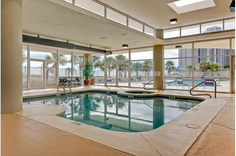The indoor pool is always an option at Tidewater in Orange Beach Alabama