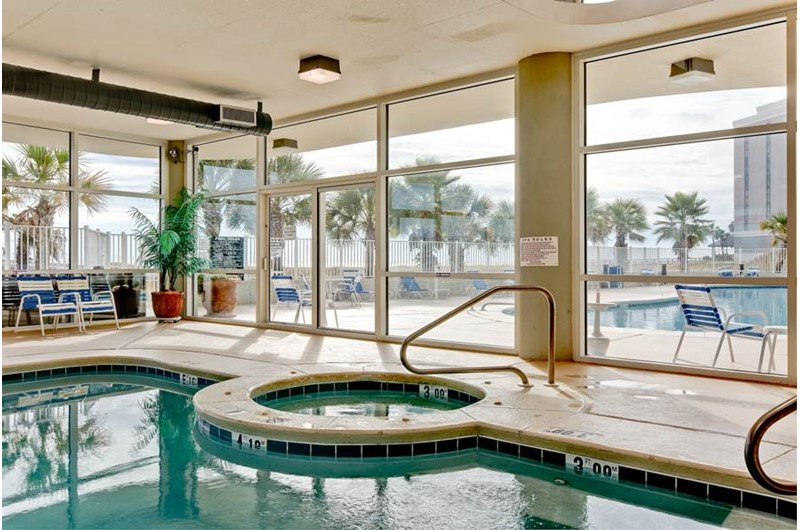The hot tub is a wonderful spot to relax at Tidewater in Orange Beach Alabama