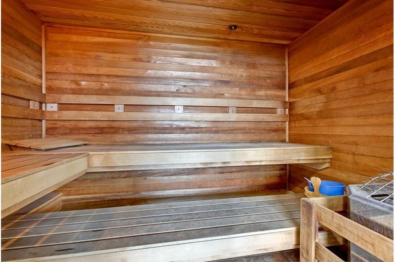 Nice sauna at Tidewater in Orange Beach Alabama