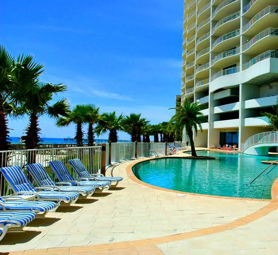 Enjoy the pool steps from your condo at Turquoise Place in Orange Beach Alabama