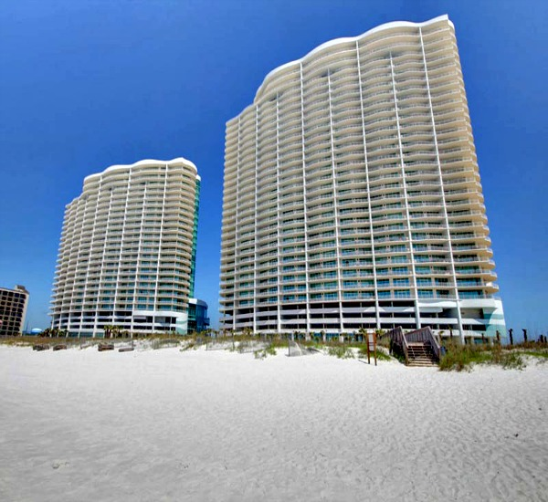 Turquoise Place is directly on the beach in Orange Beach Alabama
