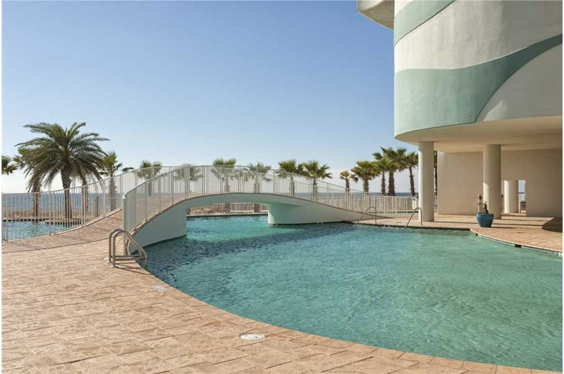 Spectacular pool at Turquoise Place in Orange Beach Alabama