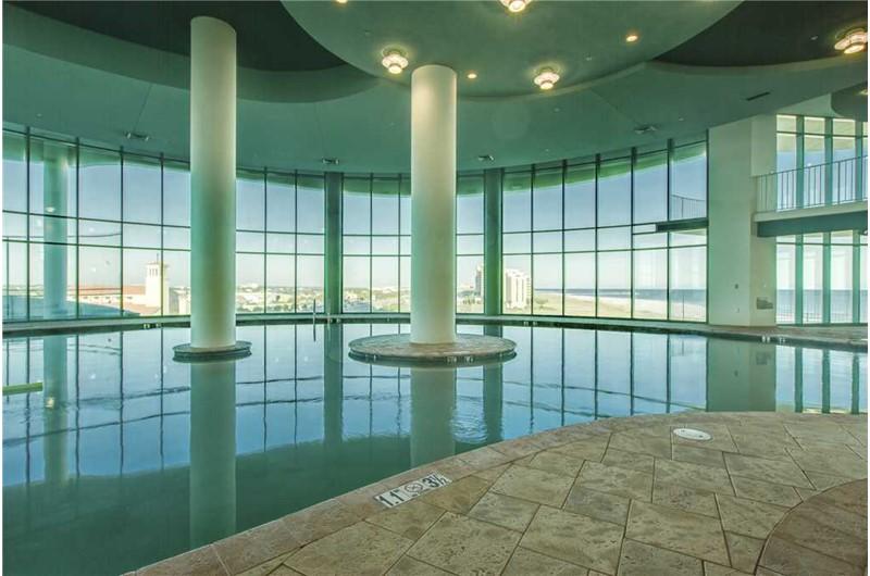 Amazing indoor pool at Turquoise Place in Orange Beach AL