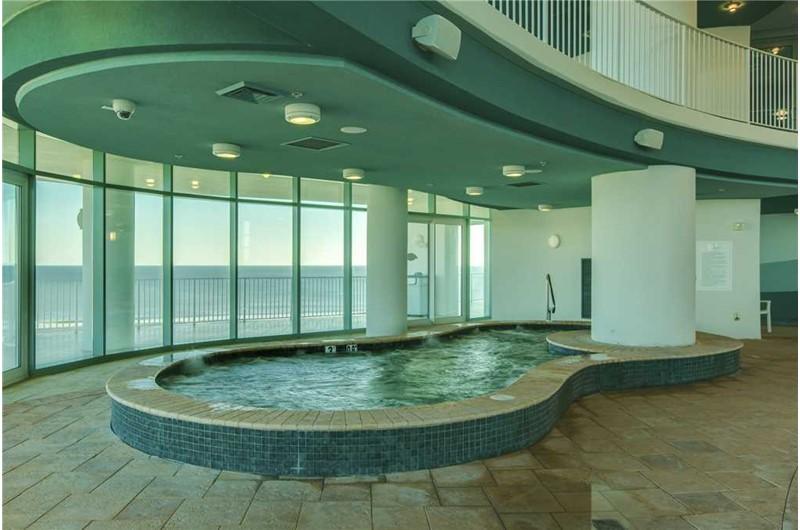 Indoor Hot Tub at Turquoise Place in Orange Beach Alabama
