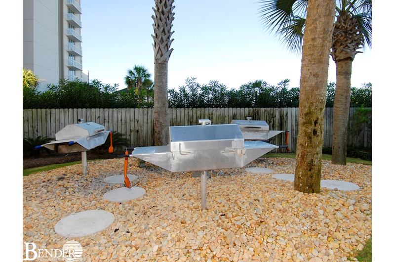 Handy grilling area at White Caps in Orange Beach Alabama