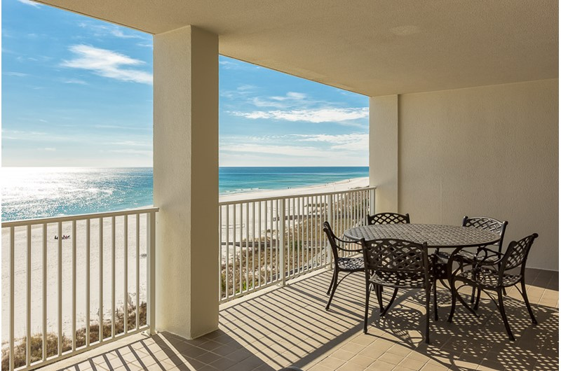 Enjoy a Gulf view from you balcony at Windward Pointe Condominiums in Orange Beach Alabama