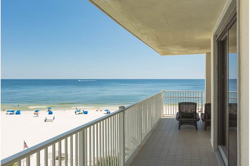 What a wonderful view of the Gulf from Windward Pointe Condominiums in Orange Beach Alabama