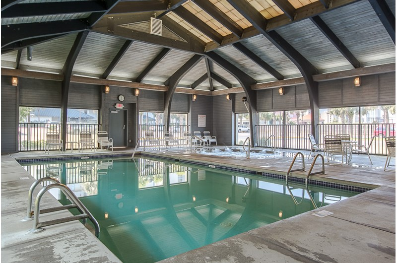 Get out of the sun and still take a dip in the indoor pool at Windward Pointe Condominiums in Orange Beach Alabama
