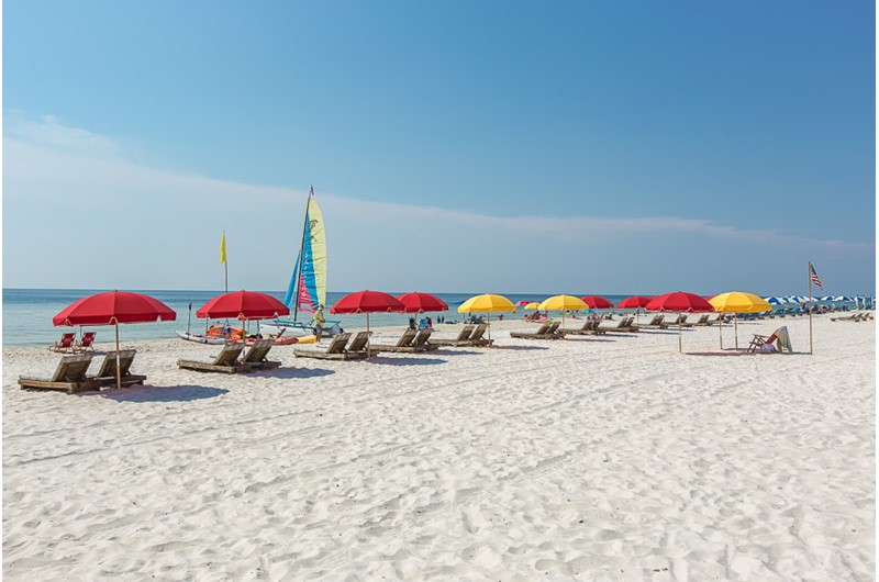Soak up some sun on the beach at Windward Pointe Condominiums in Orange Beach Alabama