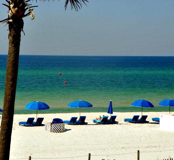 Beach service at Osprey Motel in Panama City Beach Florida