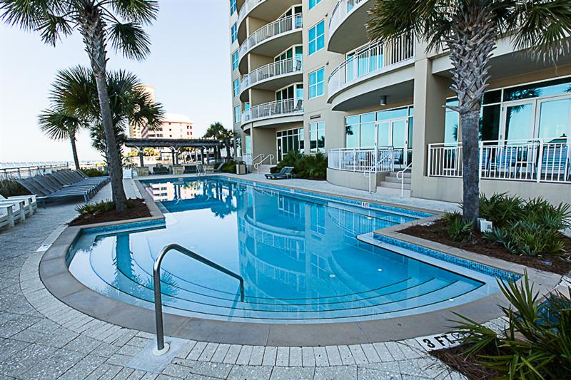 Enjoy the great pool area at Aqua in Panama City Beach Florida