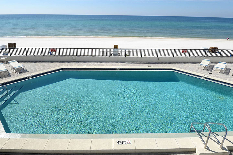 You won't want to get out of this gorgeous Gulf front pool at Aquavista in Panama City Beach Florida