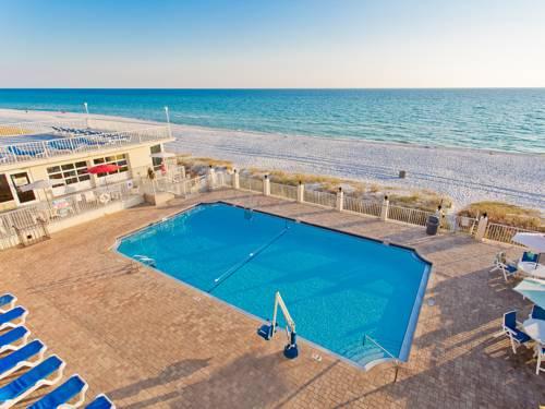 Pool and beach from Beachside Resort Panama City Beach in Panama City Beach FL