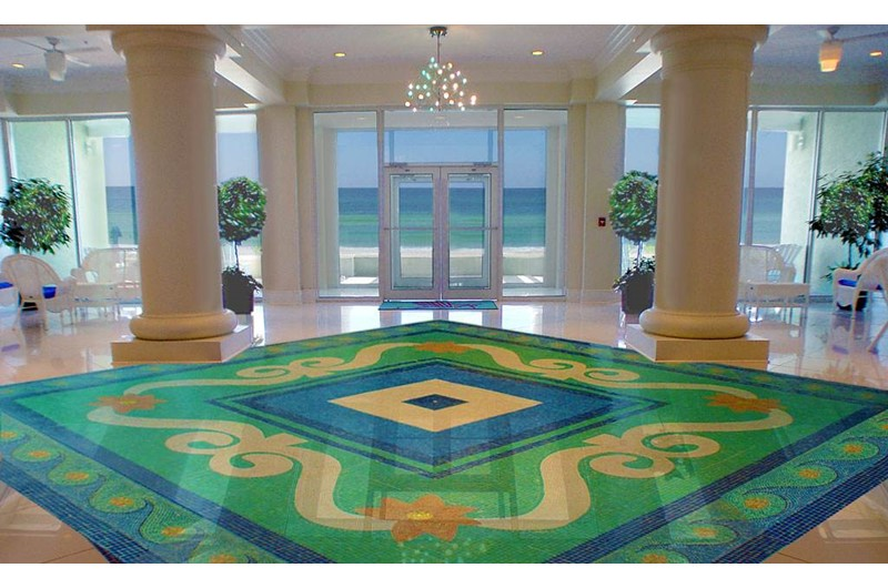 Gorgeous lobby at Boardwalk Beach Resort Condos in Panama City Beach FL