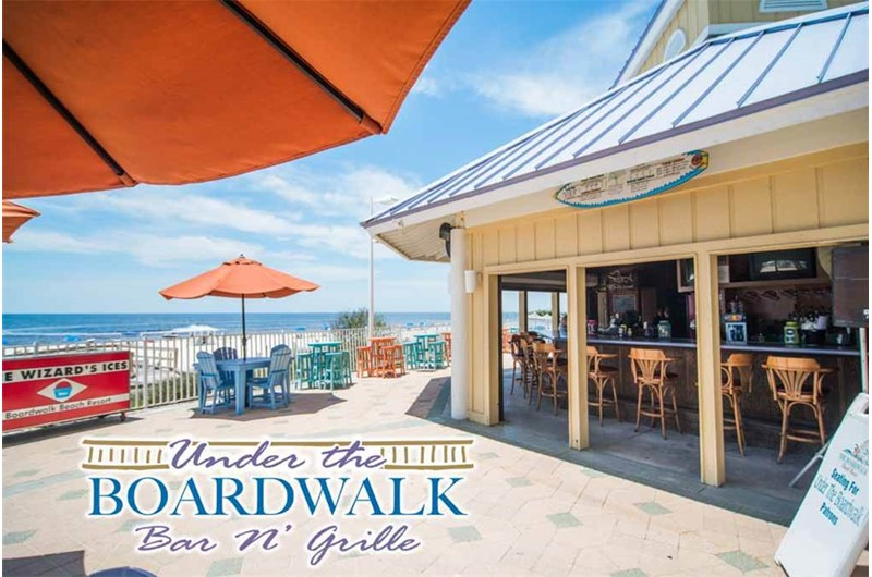 What fun to have a Bar and Grille on site at Boardwalk Beach Resort in Panama City Beach Florida