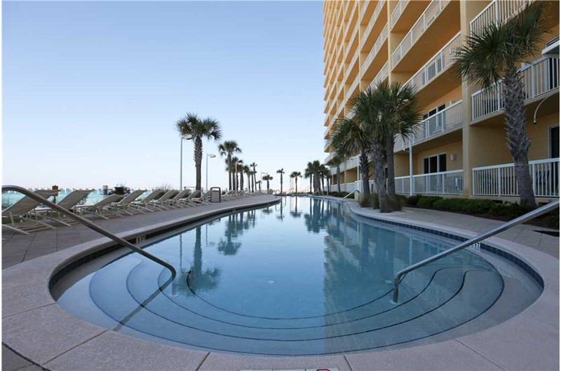 Large inviting pool at Calypso in Panama City Beach Florida