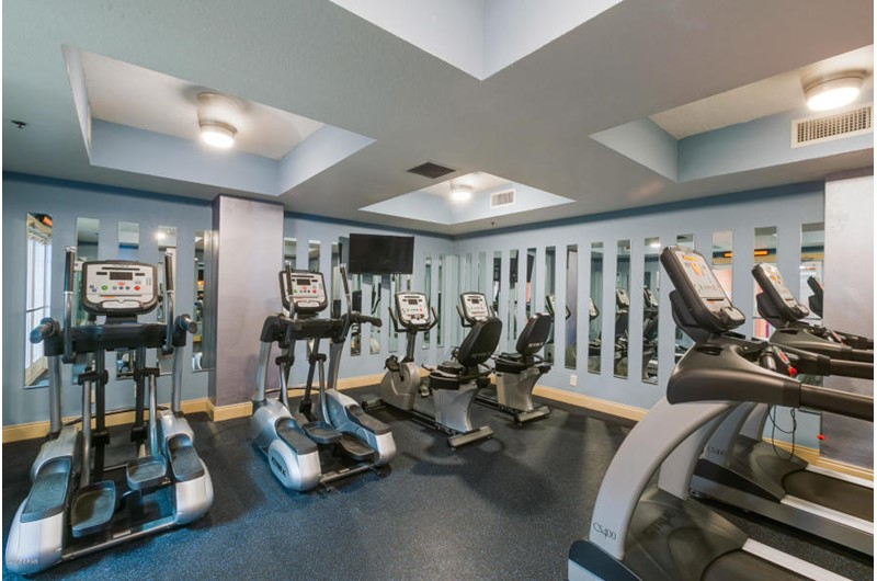 Fabulous exercise room at Calypso in Panama City Beach Florida
