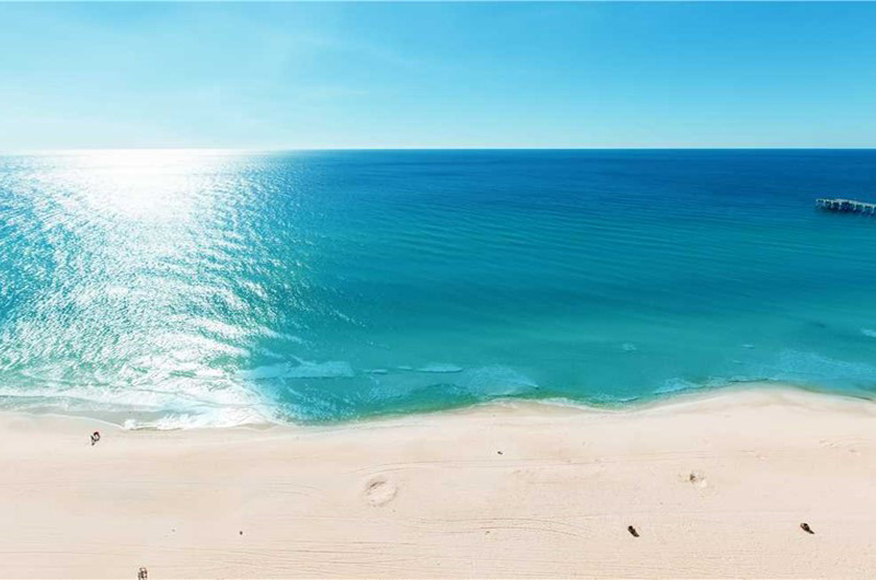 Gorgeous view of the blue waters of the Gulf from Calypso in Panama City Beach Florida