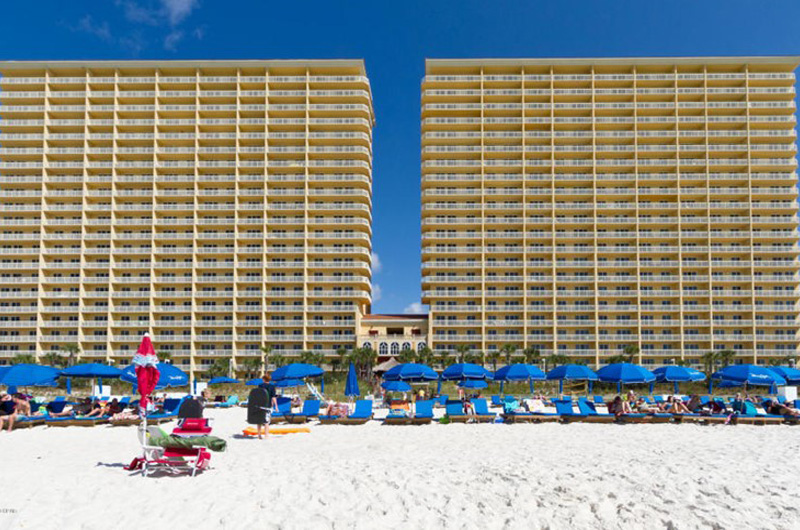 View of Calypso in Panama City Beach Florida from the Gulf