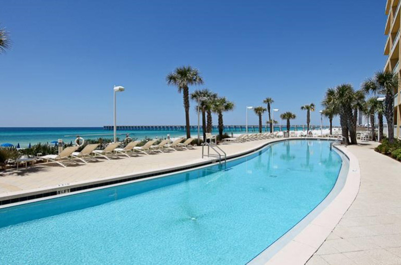 Take a dip in the refreshing pool at Calypso in Panama City Beach Florida
