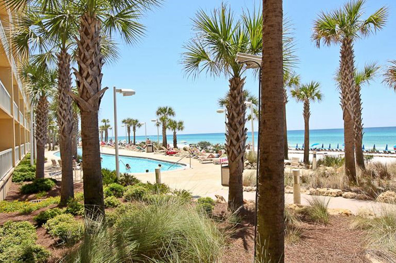Stroll the lovely grounds at Calypso in Panama City Beach Florida